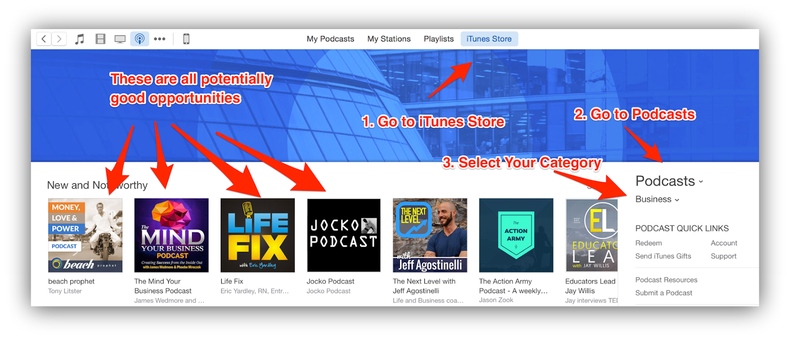 relevant new and noteworthy podcasts itunes