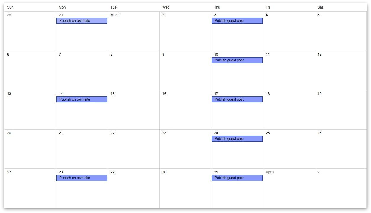 article schedule
