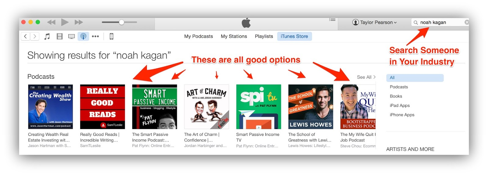 how to download podcasts from itunes