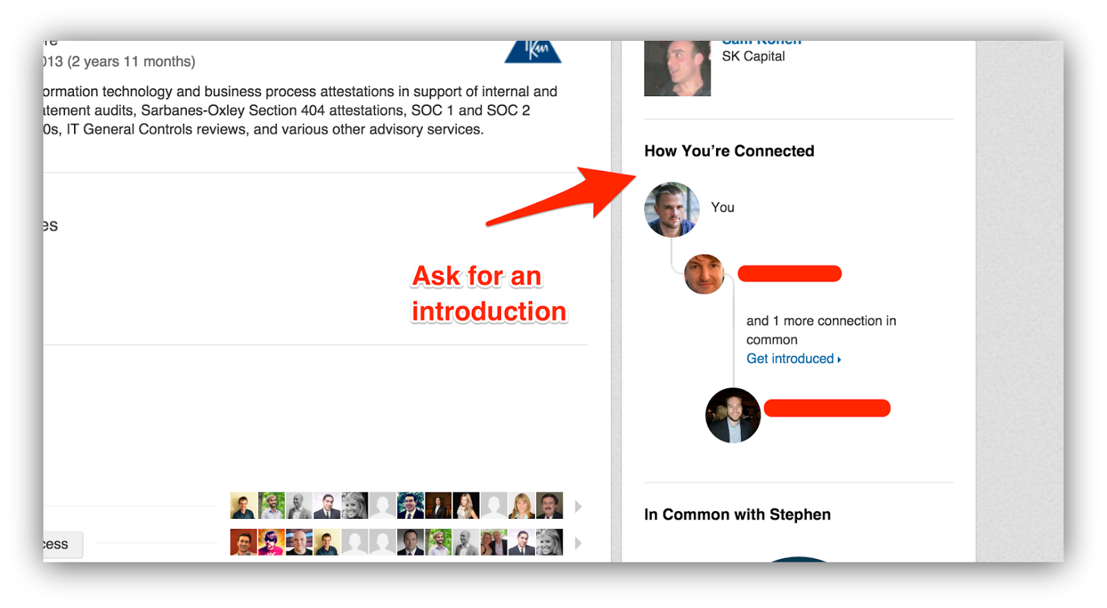 ask for introduction linkedin