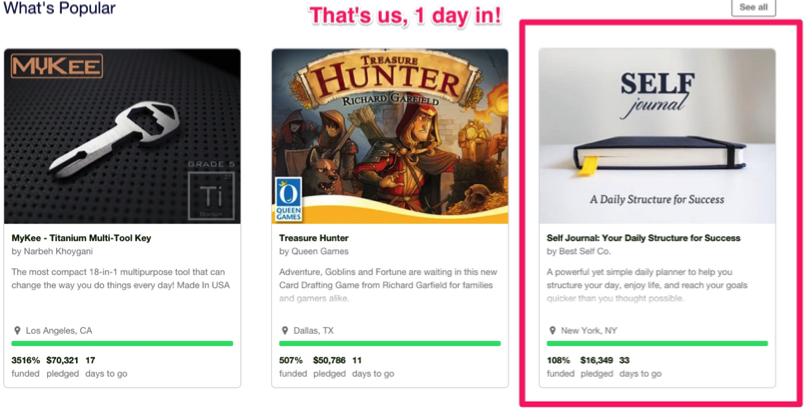 Kickstarter rank