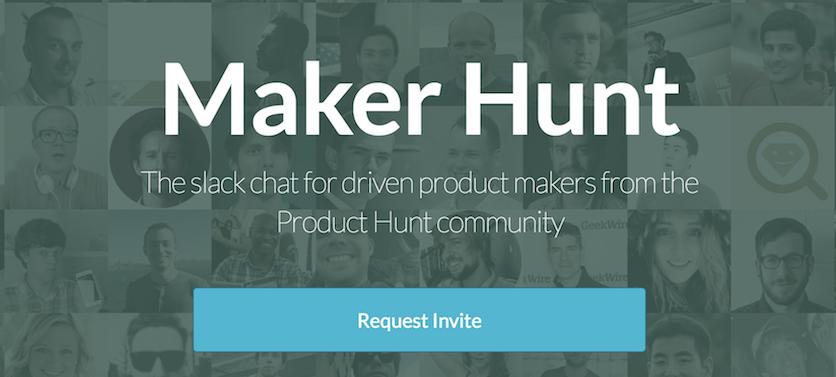 maker hunt slack community