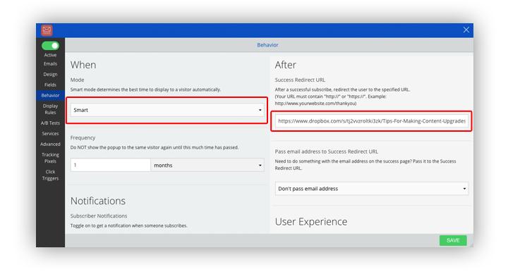 exit intent sumome content upgrade