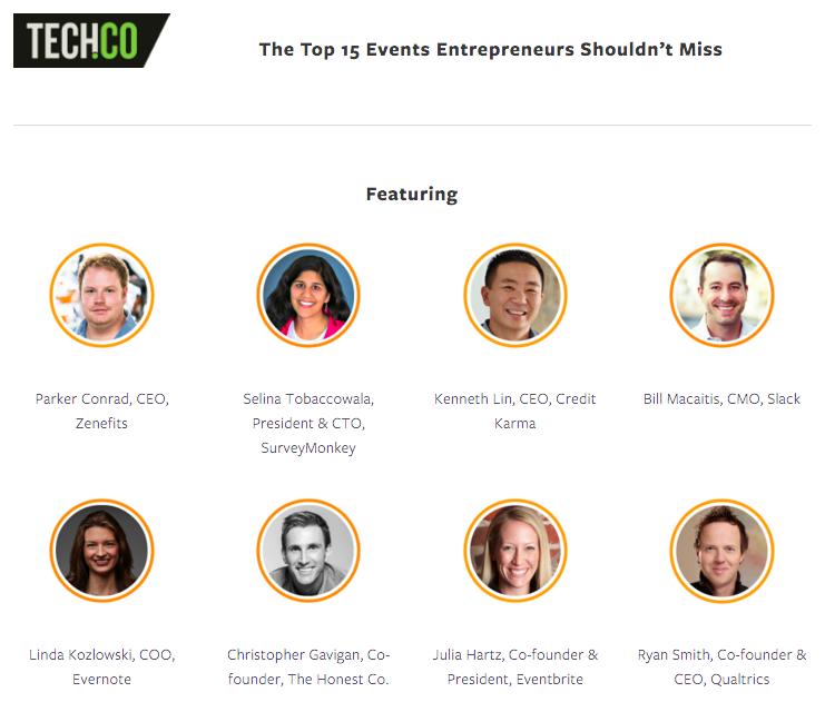 the top 15 events entrepreneurs shouldn